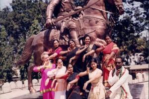 Vedantam Ramu with students