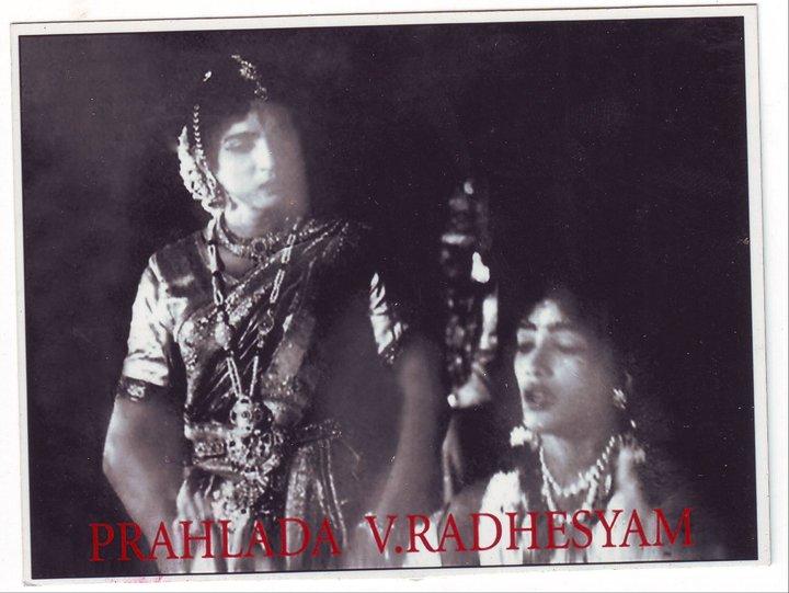 Vedantam Radheshyam as Prahalad in Kuchipudi Yakshaganam 'Bhakta Prahalda'