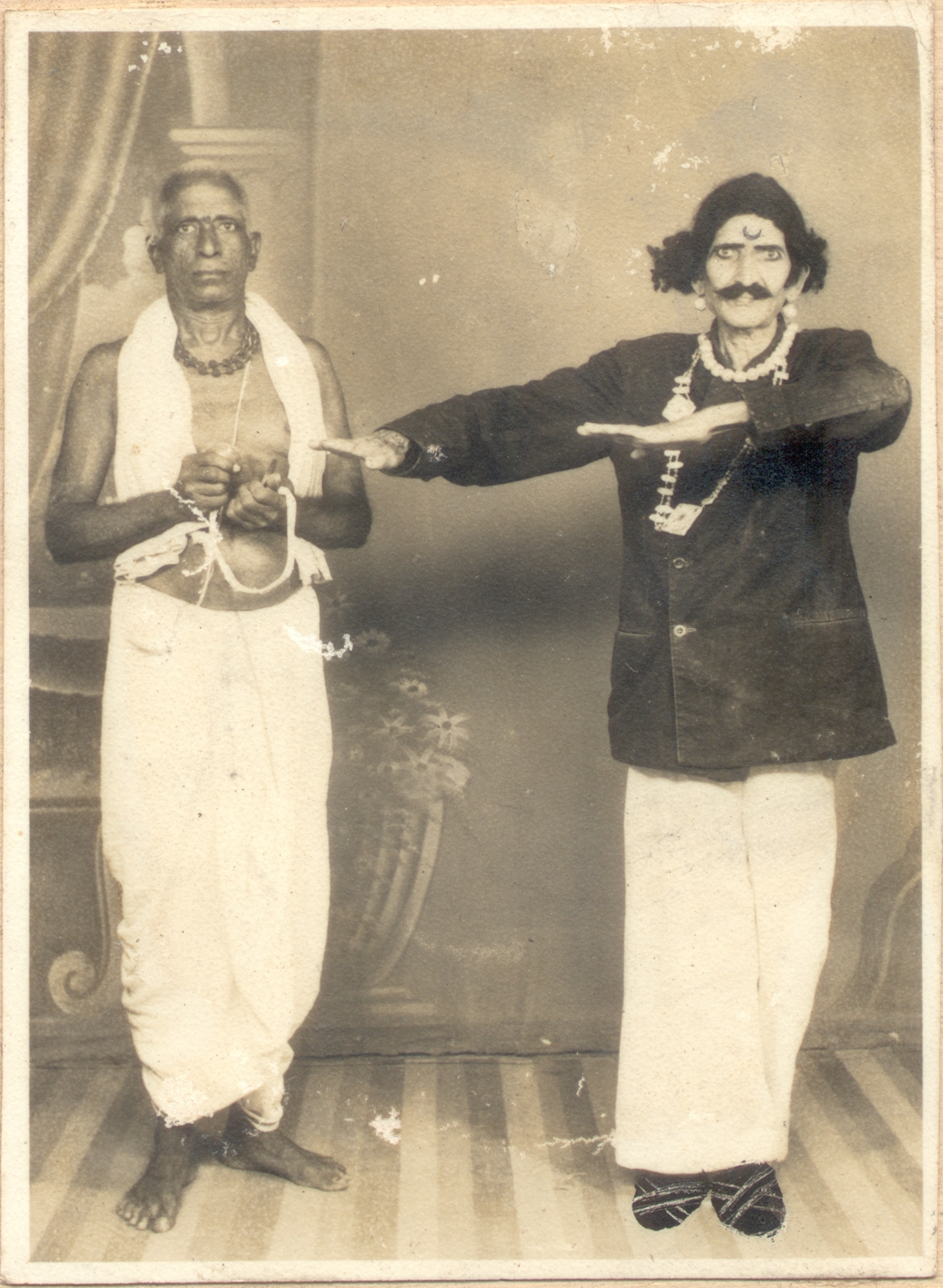 Chinta Sri Rama Murthy's father Chinta Suryaprakasam in Sarada Vesham - Photo taken 100 years ago