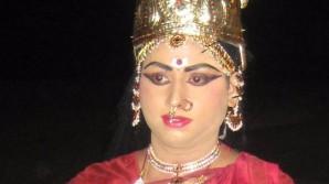 Tadepalli Saikrishna as Goddess Parvathi in Kuchipudi Yakshaganam